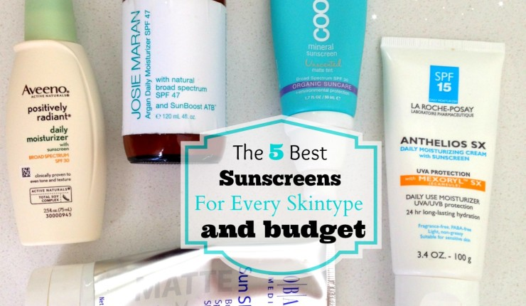 5 Best Sunscreens for Every Skintype and Budget