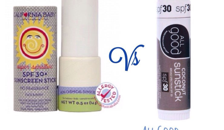 Battle of the SPF Sticks: California Baby Vs. All Good