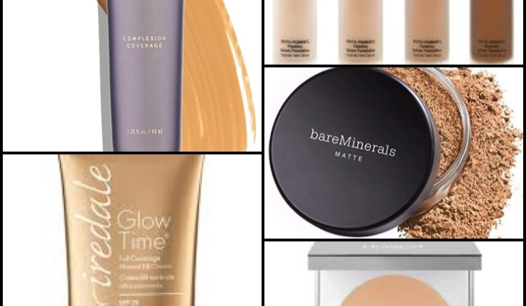 A Comparison of Natural Foundations from Beautycounter, Jane Iredale, Honest, Juice Beauty, and bareMinerals.